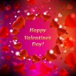 Royalty-Free Stock Vector Image: Happy Valentines Day Card With Bokeh
