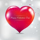 Carta di san valentino con sfocatura — Vettoriale Stock