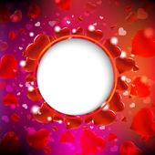 фон из красных сердец — Cтоковый вектор