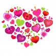 Valentines Day Card With Colorful Hearts — Stock Vector