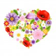 Heart From Flowers — Stock Vector