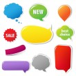 Royalty-Free Stock Vector Image: Color Labels Set With Text