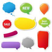 Etiquetas de várias cores com texto — Vetorial Stock