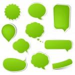 Big Green Eco Labels Set — Stock Vector