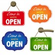 Vintage Open Sign Set - Stock Vector