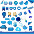 Royalty-Free Stock Vector Image: Big Set From Objects Of Blue Color