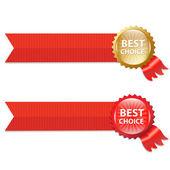 лучший выбор этикетки с лентами — Cтоковый вектор