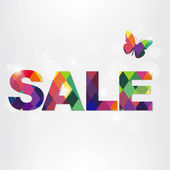 Colorful Sale Text With Bokeh — Stock Vector