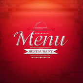 Red Menu Background — Stock Vector