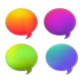 Colorful Speech Bubbles Set — Stok Vektör