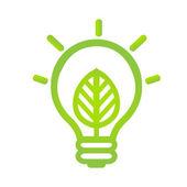 Eco Lamp Symbol — Stock Vector