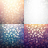 Blurred Backgrounds Set — Stock Vector