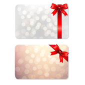 Bows And Blank Gift Tags — Stock Vector
