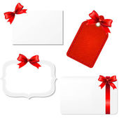 Big Set Blank Gift Tags — Stock Vector