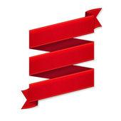 Cinta roja banner — Vector de stock