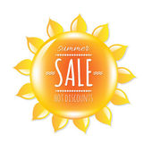 Summer Sale Banner With Symbol Sun — Vettoriale Stock
