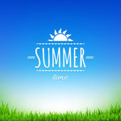 Summer Sale Banner — Stock Vector