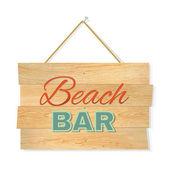 Beach Wood bar — Stock Vector