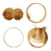Coffee Stains Set — Stock Vector