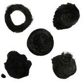 Black Blob Collection — Stock Vector