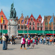 Market Square in Bruges — Stock Photo