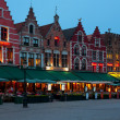 night market square in bruges — Stock Photo