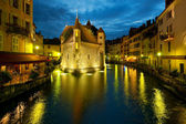 Annecy at night — Stock Photo