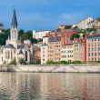 Постер, плакат: Colorful houses on the emankment in Lyon