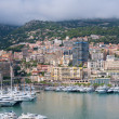 Monaco on a cloudy day - Stock Photo