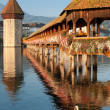 Morning Chapel Bridge in Luzern — Stock Photo #13859512