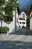 Small street in Vaduz — Stock fotografie