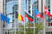 European Parliament building in Brussels — Stock Photo