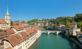 Skyline over the old town of Bern — Stock Photo
