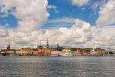 Old Town of Stockholm, classical skyline — Stock Photo