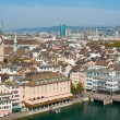 Rooftops of Zurich, Switzerland — Stockfoto