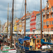 boats at the harbor in nyhavn — Stock Photo