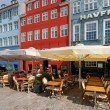 Small cafes on Nyhavn in the morning — Stock Photo