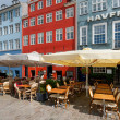 Stock Photo: Small cafes on Nyhavn in the morning