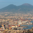 Port of Naples in the early evening - Stock Photo