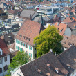 Rooftops of old town of Basel - Stock Photo