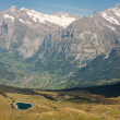 Alps and valley - Stock Photo