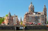 Historic buildings in Amsterdam — Stock Photo
