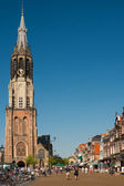 New Church on the Delft Market Square — Stock Photo