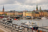 Gamla Stan in a cloudy summer day — Stock Photo