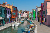 Tourists are walking in Burano — Stock Photo