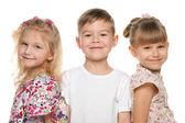 Three smiling children — Stock Photo