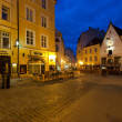 Stock Photo: Night street in Tallinn