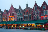 Evening Market Square in Bruges — Stock Photo