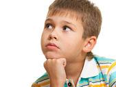 Portrait of a pensive boy — Stock Photo