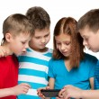 Royalty-Free Stock Photo: Children plaing with smartphone
